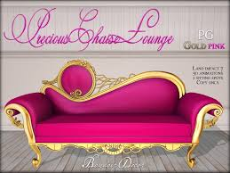 Pink Chaise Lounge Second Life Marketplace Boudoir Precious Chaise Lounge Gold Pink Pg