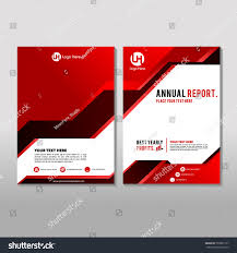 red color annual report cover design stock vector 702837127