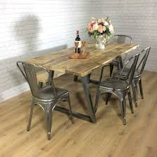 industrial rustic calia style dining table vintage reclaimed wood industrial rustic calia style dining table vintage reclaimed wood plank top oak