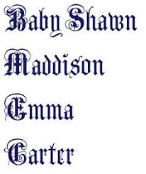 fancy tattoo font generator font generator tattoo fonts