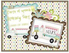 parts of speech worksheet freebie speech pathology common