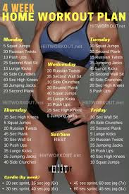 at home workout plans for women week no gym home workout plan