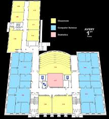 maps of avery hall and schorr center computer science and