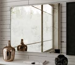 Frameless Bathroom Mirrors Belgian Antiqued Mirror 24 X 22 Hanging Large Frameless