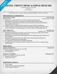 Front Desk Receptionist Sample Resume by Front Desk Receptionist U003ca Href U003d