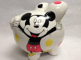 Engraved Piggy Bank Personalized Piggy Bank Mickey Mouse