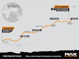 Oymyakon Map World U0027s Coldest Road Max Adventure