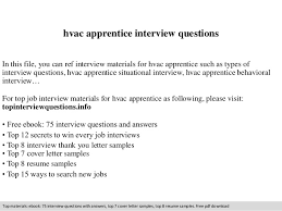 Hvac Resume Examples by Hvac Apprentice Interview Questions