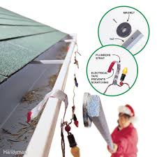 how to hang christmas lights on gutters 9 handy holiday decorating tips family handyman