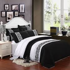White Queen Size Duvet Cover Black And White 5 Star Hotel Style Wide Stripes And Animal Zebra