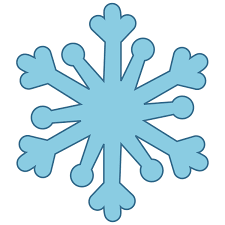 the lacy arms of this accuquilt snowflake shape help you form