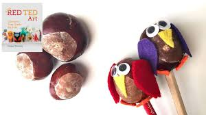 conker crafts owl pencil toppers aka buckeyes youtube