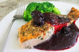 gastrique cuisine thyme encrusted salmon with blackberry gastrique be mindful be
