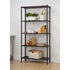Shelving Units For Bathrooms Slat 72 Five Shelf Shelving Unit Reviews Wayfair