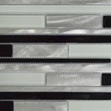 online shop black white and silver interlocking metal glass mosaic