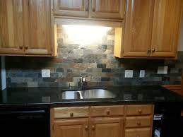 Slate Backsplash Kitchen Black Countertop Backsplash Ideas Backsplash Com Kitchen