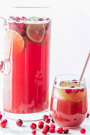 sparkling cranberry pineapple punch thanksgiving