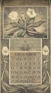 botanical calendars le roy charles illustrator december botanische kalender