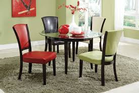 dining room round glass dining table centerpieces decor