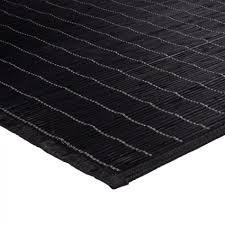tapis cuisine noir tapis en bambou naturel noir 120x170cm monbeautapis com