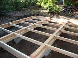 how to frame a floor diy prefab