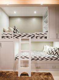 Built In Bunk Bed Contemporary Bunk Room Features White Built In Bunk Beds With Top