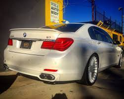 2012 bmw alpina b7 trunk replaced rear bumper replaced 3 stage