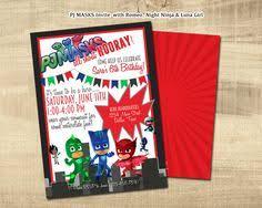 pj masks birthday pj masks invitation littlebeepartydesign