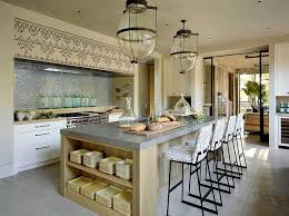 light stained concrete floors island with concrete countertop transitional kitchen ken