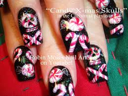 diy crazy christmas candy nail art design tutorial youtube