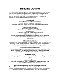 Simple Job Resumes by College Scholarship Resume Template Free Resume Example And