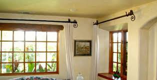 Solid Metal Curtain Rods Wrought Iron Drapery Hardware Paso Robles Ironworks