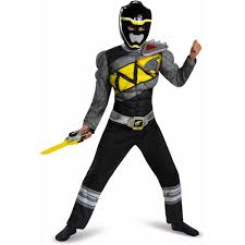 Dino Halloween Costume Black Power Ranger Dino Charge Classic Muscle Child Halloween