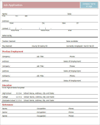 employment application form template free word pdf excelsample