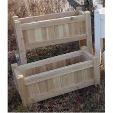 Planter With Legs by All Maine Bucket D006 36 Inch Planter With Tall Legs Natural