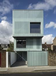Narrow House Designs by Architecture Facade Modern Narrow House Design With Glass