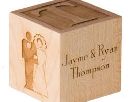wooden wedding gifts wooden anniversary gift block personalized anniversary gift