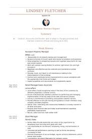 Property Management Resume Samples assistant property manager resume samples visualcv resume