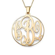 monogrammed pendant 14k solid gold monogram necklace mynamenecklace