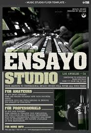 music studio flyer template by lou606 graphicriver