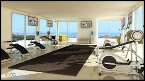home gym design also with a wall decor for home gym also with a