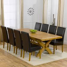 Extending Dining Table And 8 Chairs Oak Dining Set 8 Chairs Large Round Oak Dining Table 8 Chairs