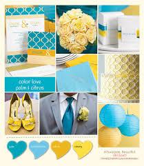 unique wedding colors color palm and citrus