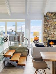 Best Mid Century Modern Interiors Images On Pinterest - Modern beach house interior design
