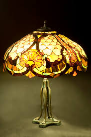 art nouveau lamp stained glass lamp table lamp lamp shade
