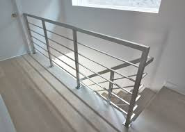 Metal Banisters Modern Railings Custom Stairs Chicago Modern Staircase Design