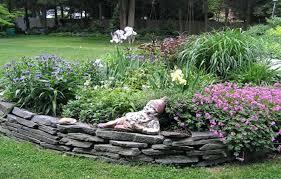 Raised Rock Garden Beds River Rock Garden Bed River Rock Raised Garden Beds How To Make A