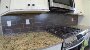 How To Install A Tile Backsplash In Kitchen by How To Install Subway Tile Backsplash The Handyman Youtube