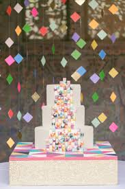 eclectic u0026 colorful geometric wedding ideas every last detail