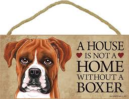 boxer dog keeps coughing boxer uncro wood dog sign wall plaque photo display a house is not